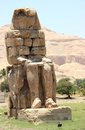 The Colossi of Memnon. Stock Images