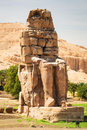 The colossi of memnon in egypt near luxor Stock Images