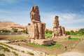 The colossi of memnon in egypt near luxor Royalty Free Stock Image
