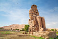The colossi of memnon in egypt near luxor Stock Photos