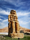 The colossi of memnon valley kings luxor egypt Royalty Free Stock Photography