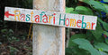 Colouful sign taken koh lipe thailand Royalty Free Stock Image