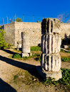 Coloumn in the acropolis of Corinth Greece Royalty Free Stock Photos