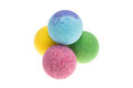 Colour bath bombs Royalty Free Stock Photo