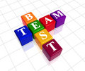 Colour best team Royalty Free Stock Photo