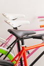 Colour  bicycle Stock Image