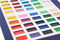 Colour card сolour on a white background Stock Image
