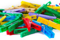 Colour Clothespin Royalty Free Stock Images