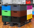 Colour crates pallet Royalty Free Stock Image