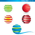 Colour Globe Ball Logo Stock Image