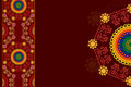 Colour henna mandala background colorful design Royalty Free Stock Photo