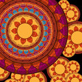 Colour henna mandala background colorful design Royalty Free Stock Photos