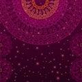 Colour Henna Mandala Background