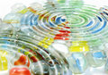 Colour marbles Stock Images