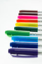 Colour pen on white background Stock Photos