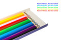 colour pencil in box Royalty Free Stock Photo