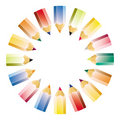 Colour pencil pattern Royalty Free Stock Photo