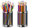 Colour pencil in support Stock Image