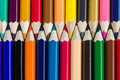 Colour pencils background - can use for background Royalty Free Stock Photo