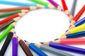 Colour pencils - creativity concept Stock Image