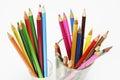 Colour Pencils In Glasses