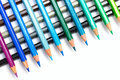 Colour pencils a group of colourful lined up side by side Stock Photos