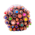 Colour pencils isolated on white background close up Stock Photography