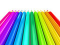 Colour pencils over white background Royalty Free Stock Photography