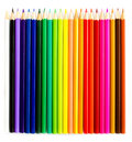 Colour pencils set isolated on white background close up Royalty Free Stock Images
