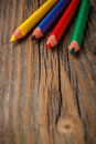 Colour pencils space your text Royalty Free Stock Photo