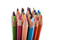 Colour pencils of various colors Royalty Free Stock Photo