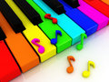 Colour piano keys Royalty Free Stock Photo