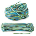 Colour rope thick on white background Royalty Free Stock Photo