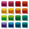 Colour shining buttons on stickers Royalty Free Stock Photo