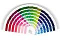 Colour swatch cmyk rgb Stock Image