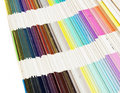 Colour swatch rainbow Stock Image