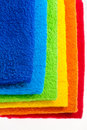 Colour terry towels combined by pile Royalty Free Stock Photo