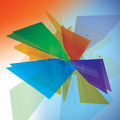 Colour Vector Shards illustration Royalty Free Stock Photos
