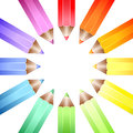 Colour wheel pencils Stock Photography