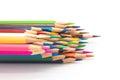 Colour wooden pencil on white Royalty Free Stock Photo