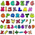 Coloured alphabet Royalty Free Stock Photo