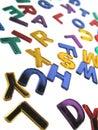 Coloured alphabet Royalty Free Stock Photo