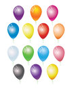 Coloured balloon set brighly balloons on a white background Royalty Free Stock Image