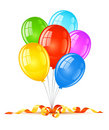 Coloured balloons for birthday holiday celebration Royalty Free Stock Photography