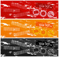 Coloured banners Royalty Free Stock Photography