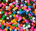 Coloured beads background of multi Royalty Free Stock Photo