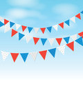Coloured bunting on a sky background Royalty Free Stock Image