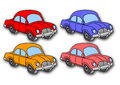 Coloured cars (vector) Royalty Free Stock Photo