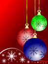 Coloured Christmas Baubles Stock Photo