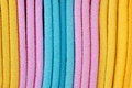 Coloured cloth Stock Image